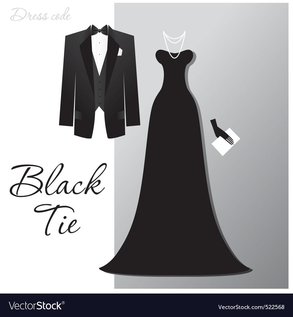 Black tie vector image