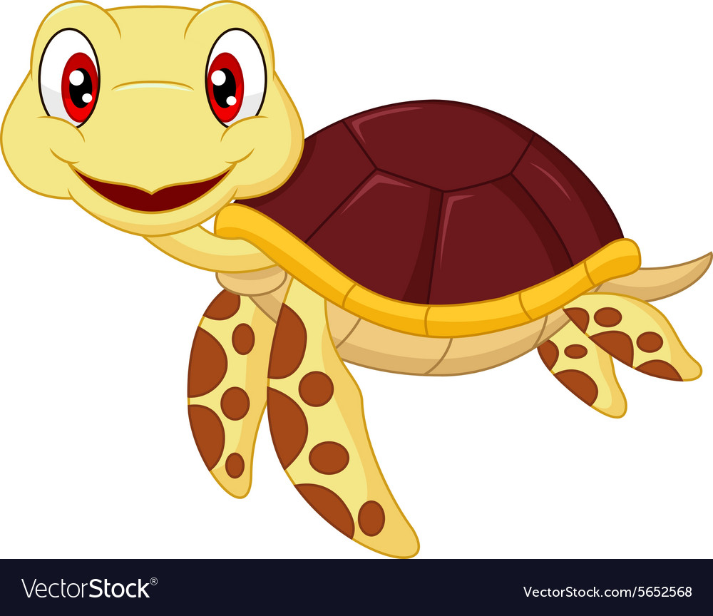 Cartoon Baby Cute Turtle Royalty Free Vector Image