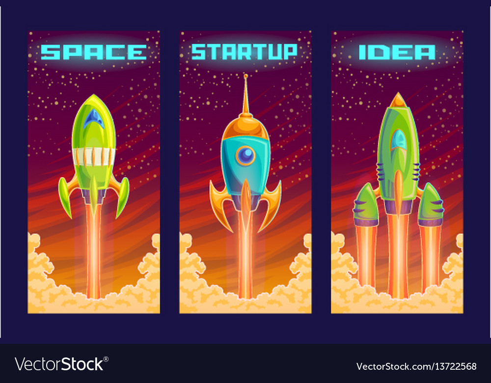Cartoon of the startup concept