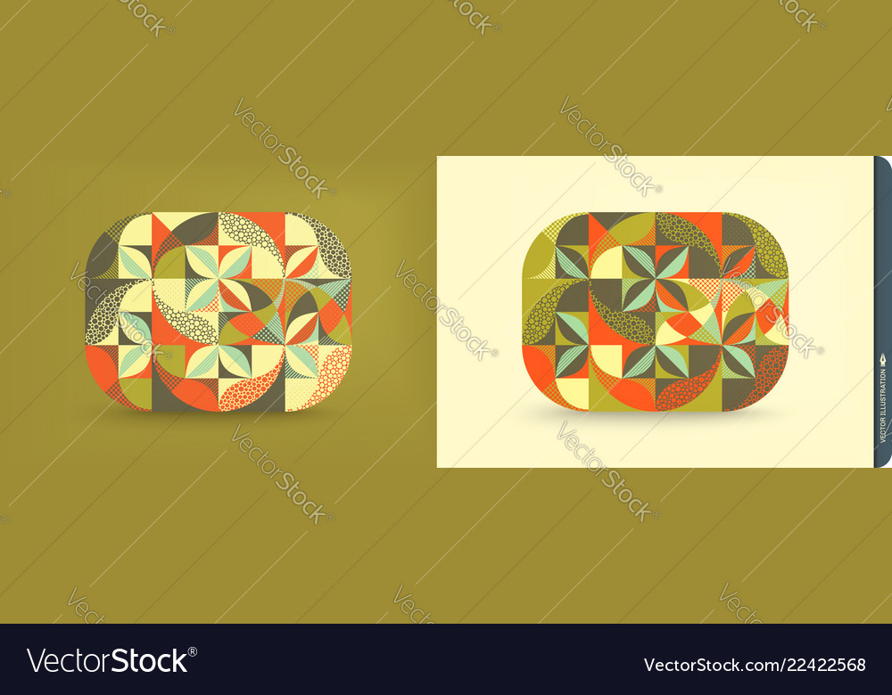 Cover design template abstract geometric design