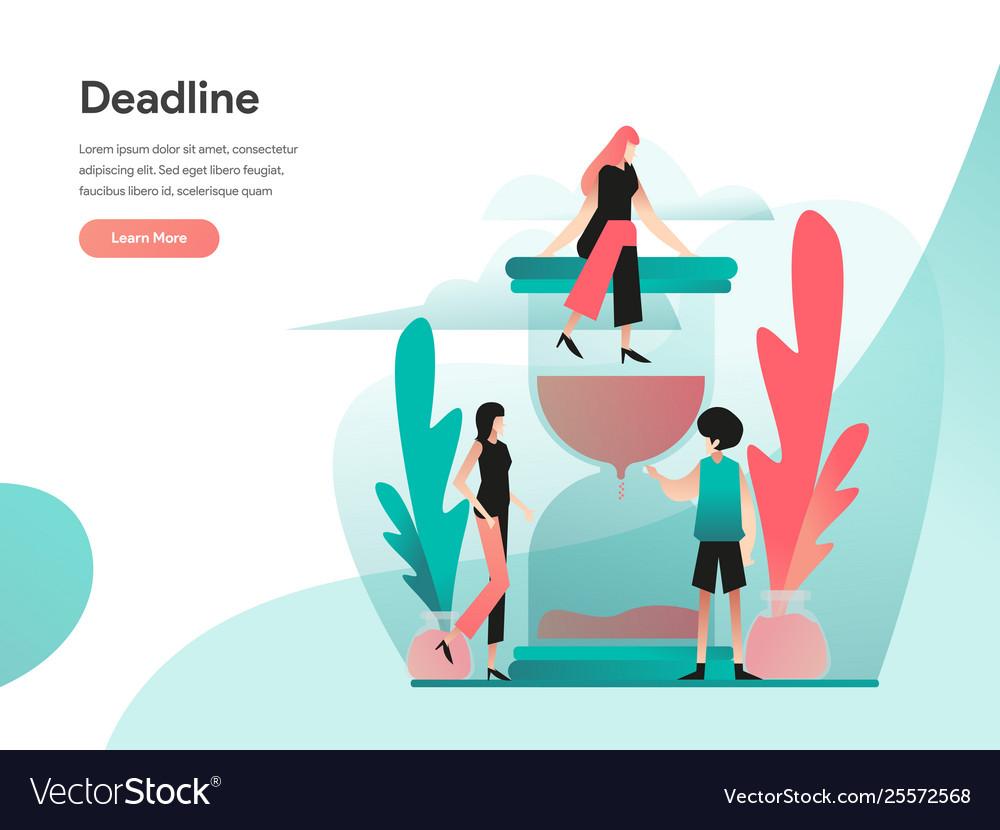 Deadline concept modern flat design concept