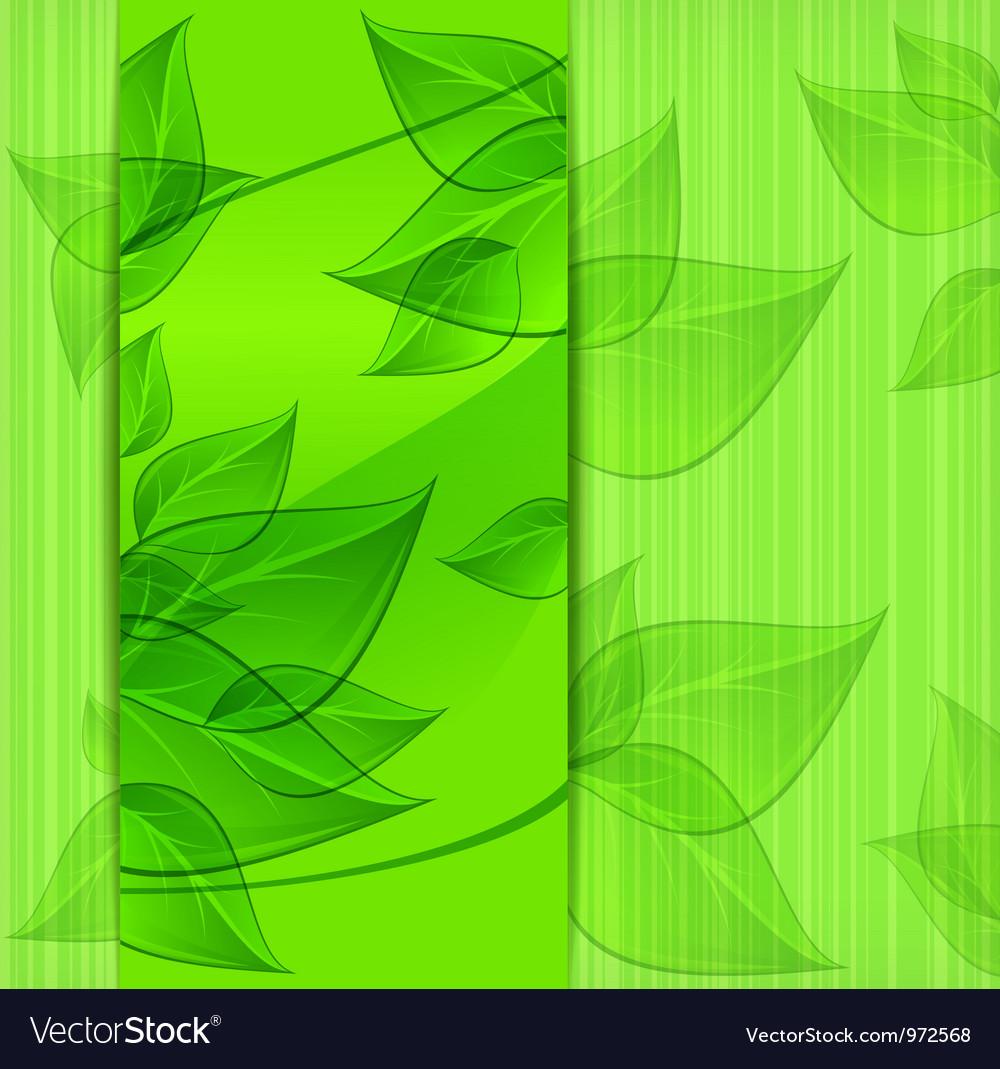 Green leaves modern design