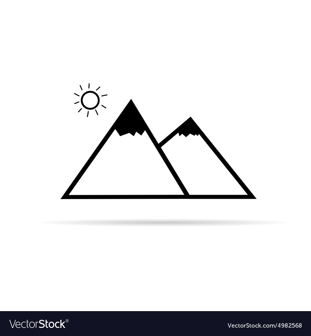 Pyramid cartoon vector image