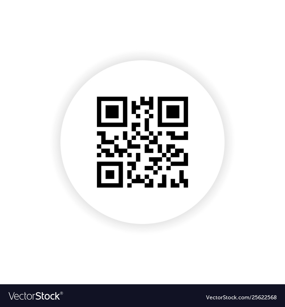 Qr code button application with red line scanning