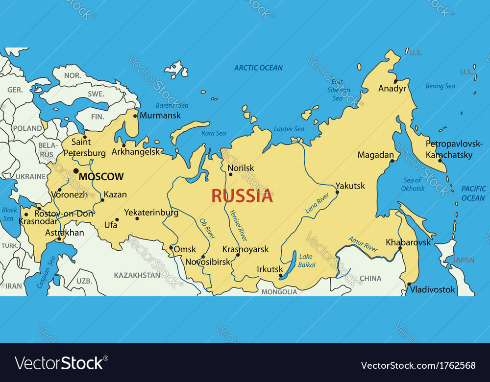 Russian Federation Map Russian Federation   map Royalty Free Vector Image