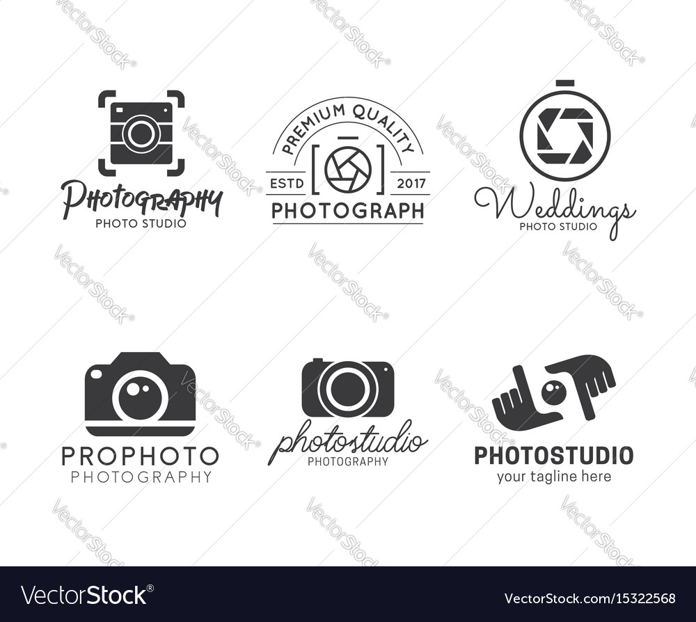 Set of photography logo