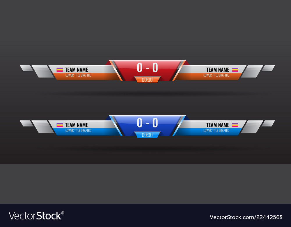 Sport Scoreboard Bars Or Lower Third Template With Vector Image