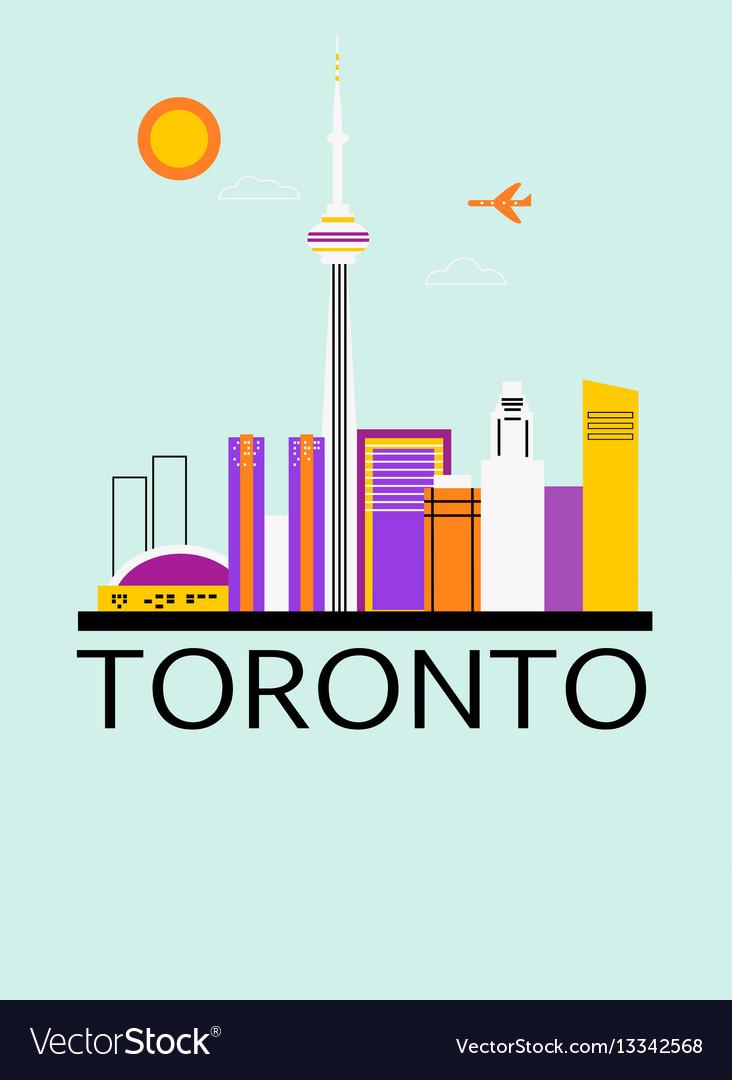 Toronto travel background