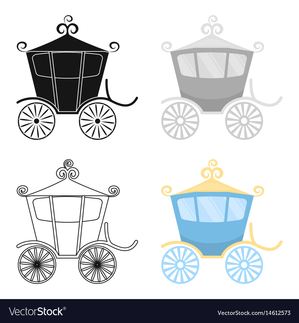 Carriage icon of for web and