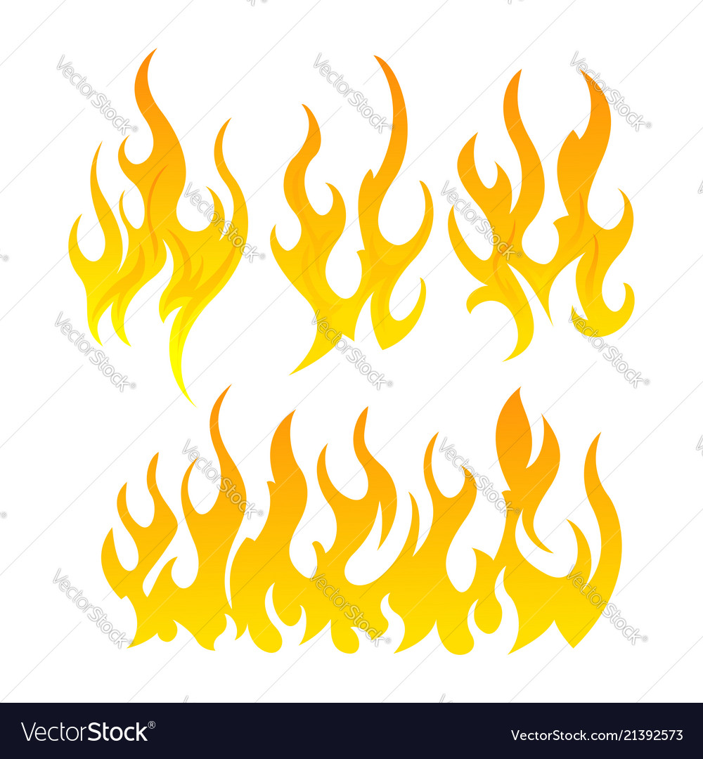 Fire icon set design element