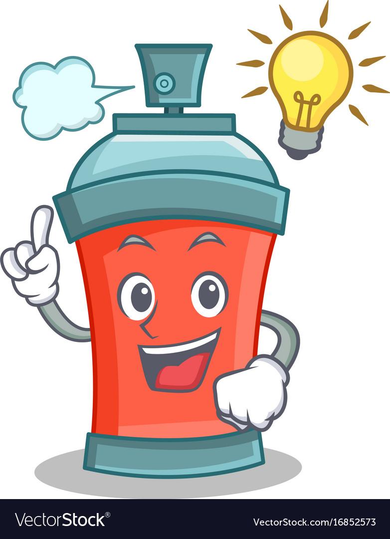 Have an idea aerosol spray can character cartoon vector image