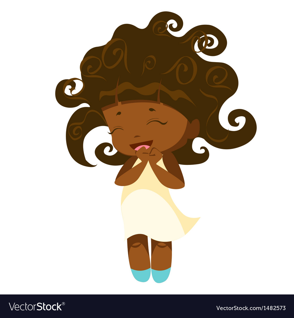 Kawaii afro princess vector image