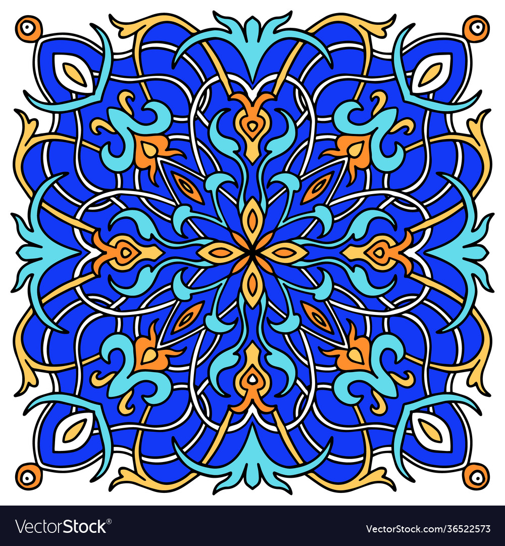 Mandala colored majolica great design for any