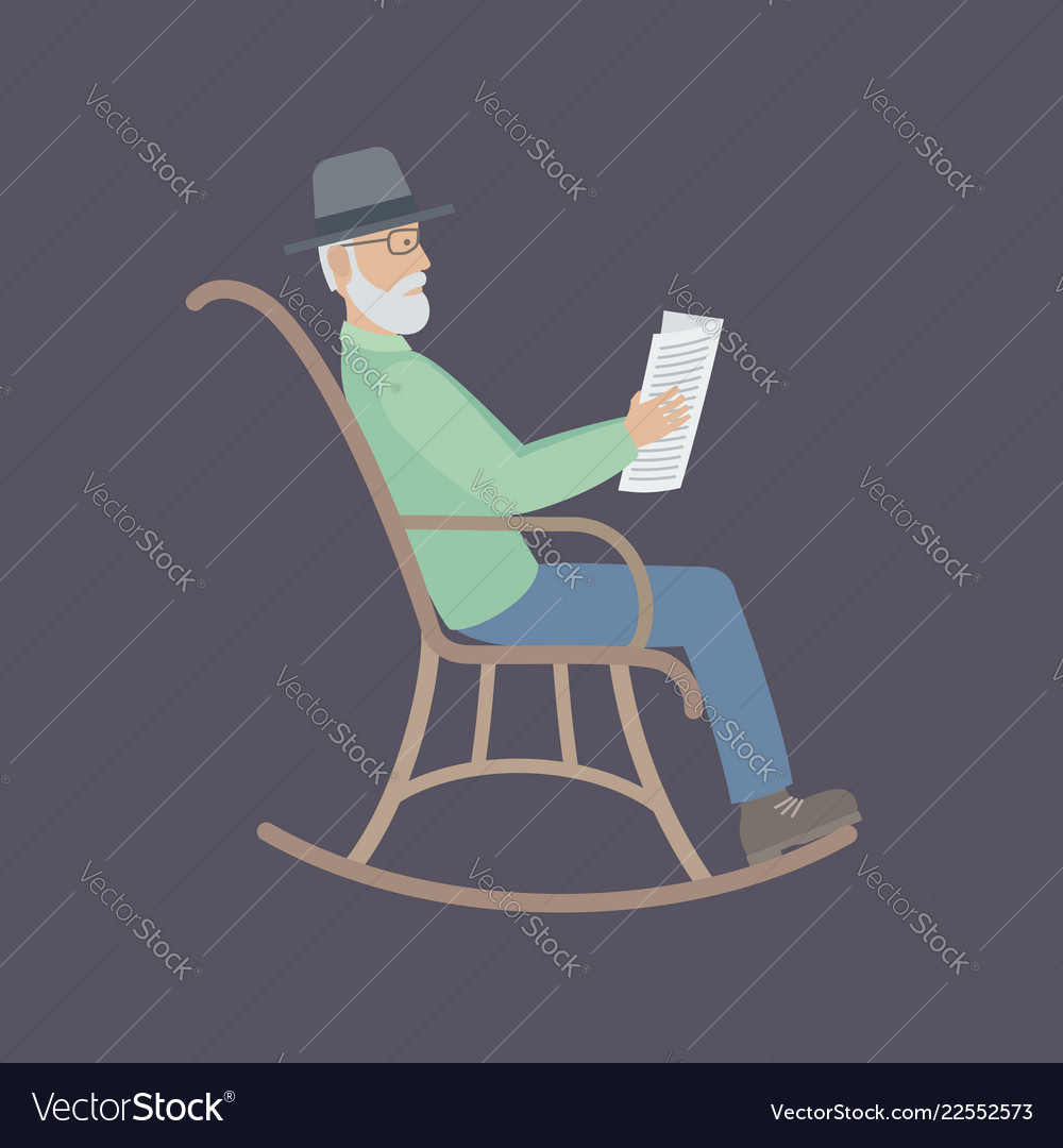 Admirable Old Man Sitting On A Chair Squirreltailoven Fun Painted Chair Ideas Images Squirreltailovenorg