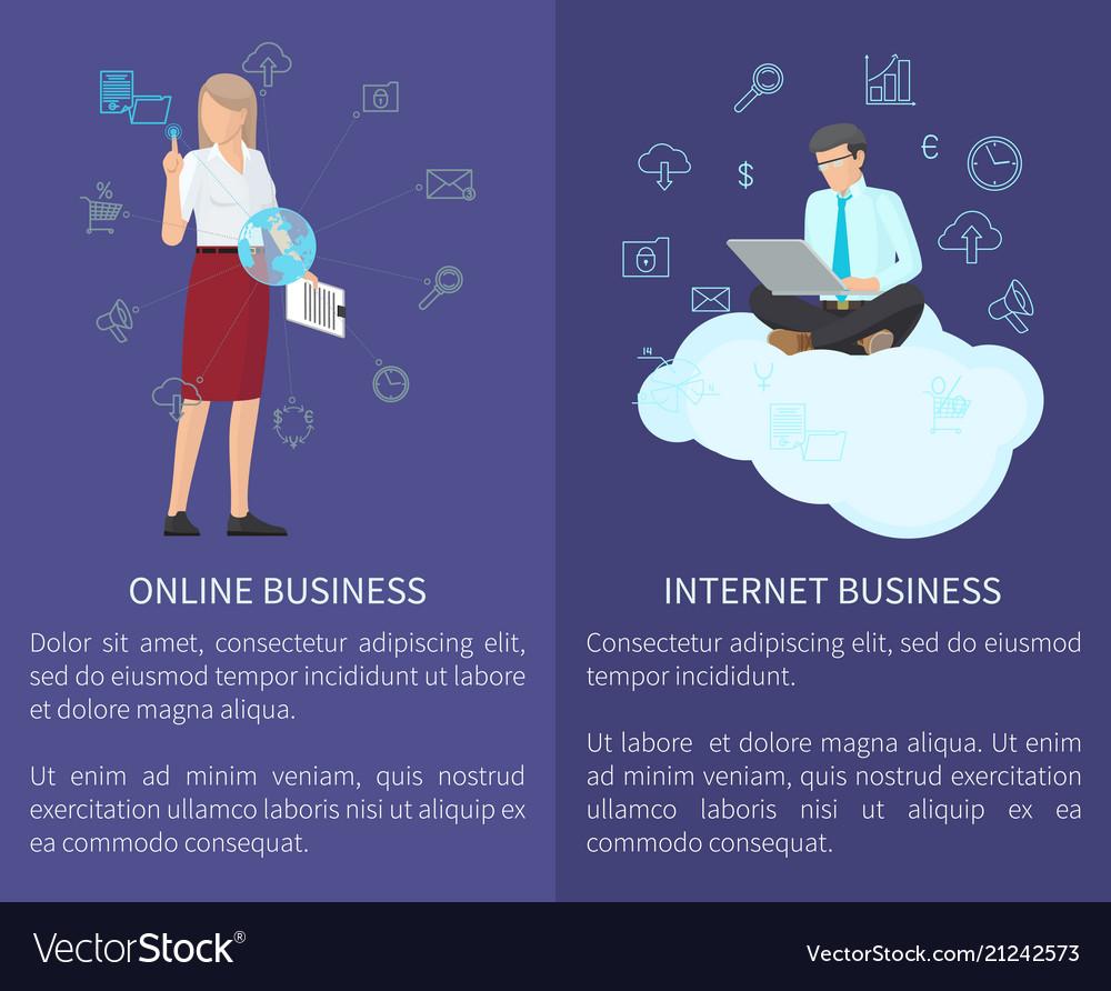 Online business internet set