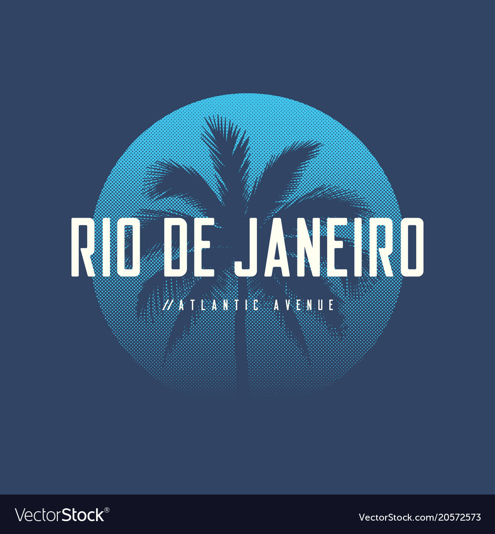 Rio de janeiro atlantic avenue t-shirt and apparel