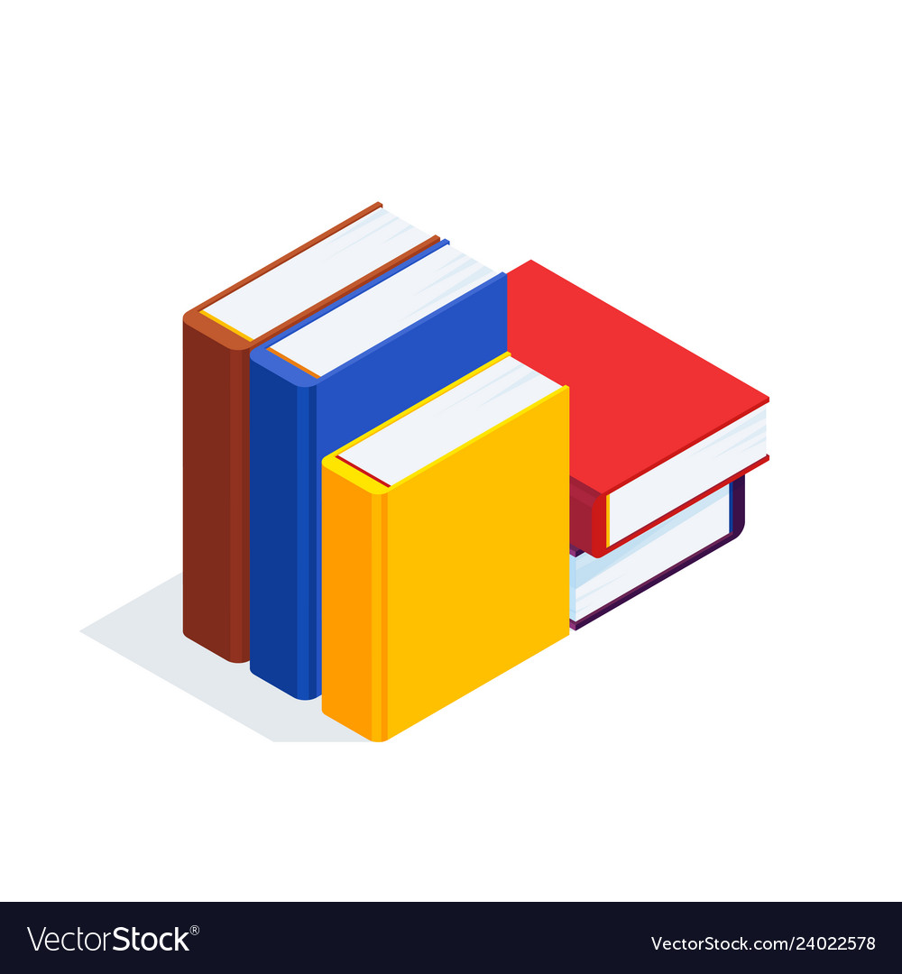 3d stack of books