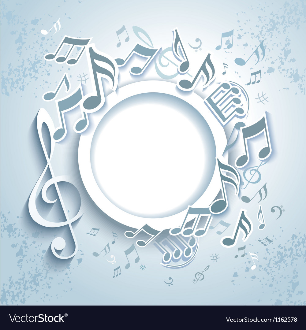 Abstract music frame vector image