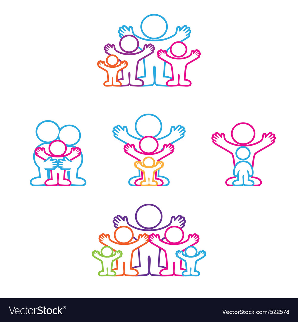 Collection icon family vector image