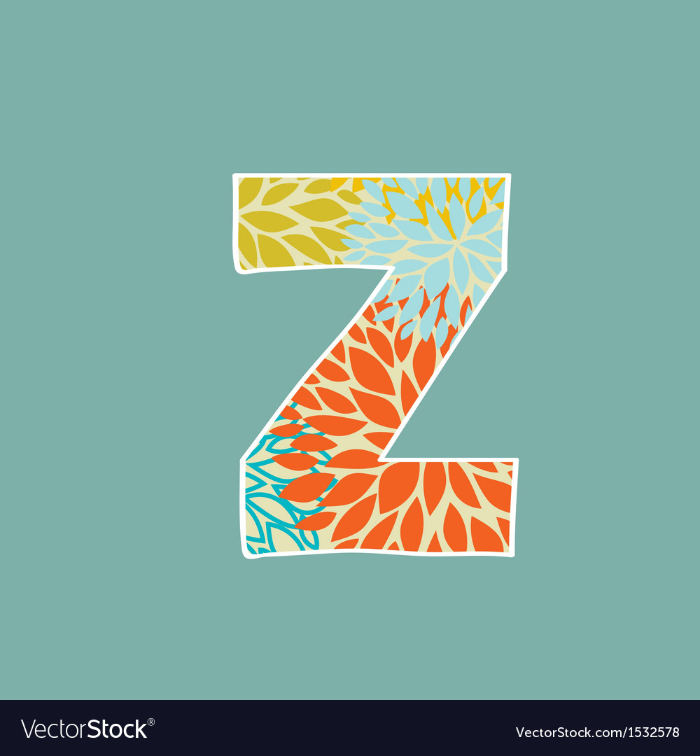Grunge Letter Green Eco Style Font Symbol Z Vector Image On VectorStock