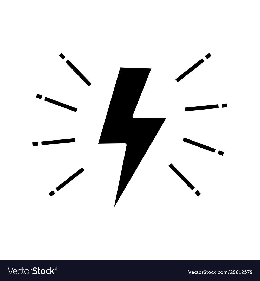 Lightning bolt glyph icon
