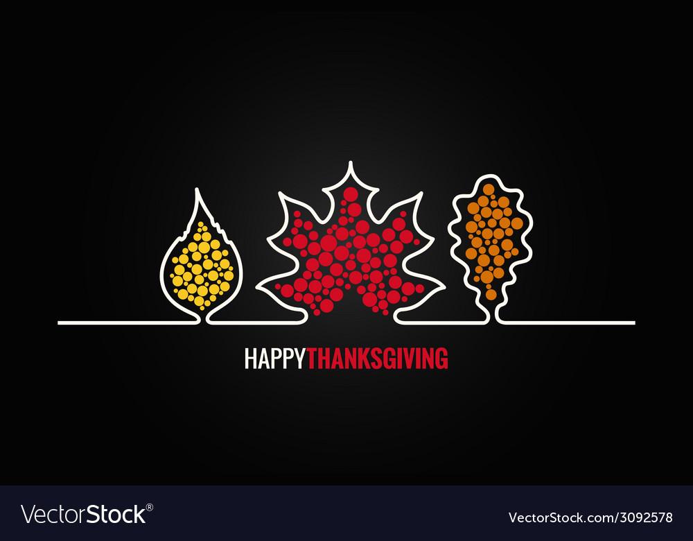 Thanksgiving autumn leaves design background