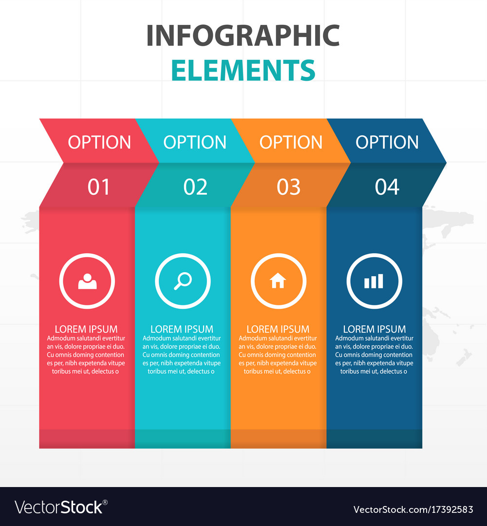 Abstract colorful arrow business infographics