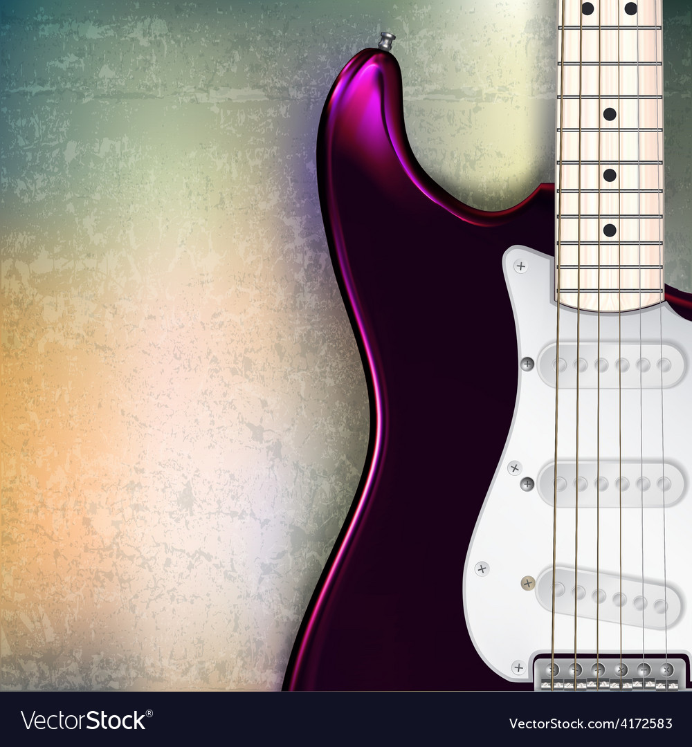 Abstract jazz rock grunge background with red vector image