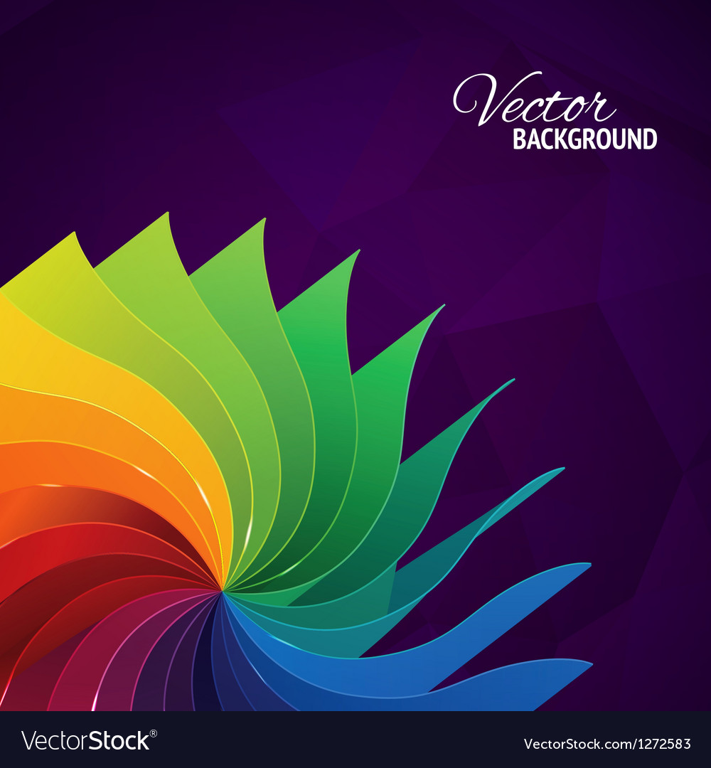 Colorful Background With Book Pages Rainbow Vector Image