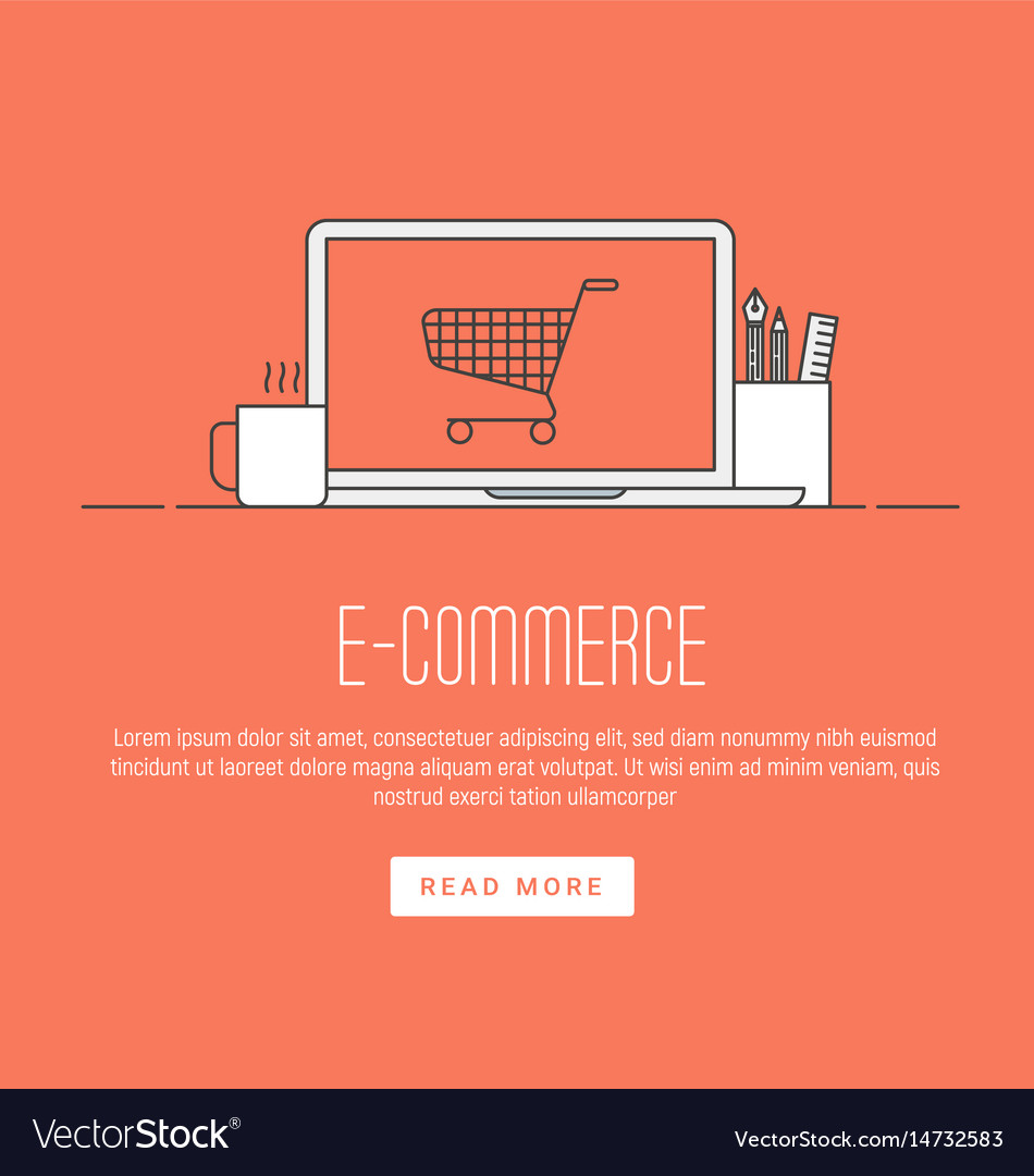 E-commerce pay online and online shopping concept