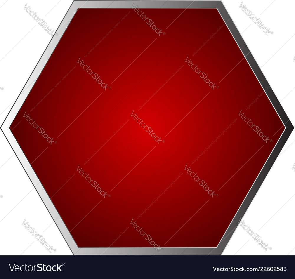 Empty blank stop sign isolated on white