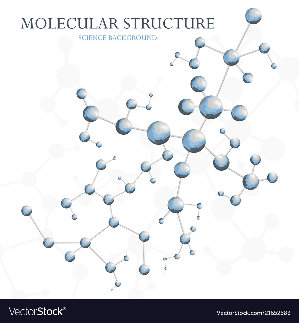 Molecular structure background concept of