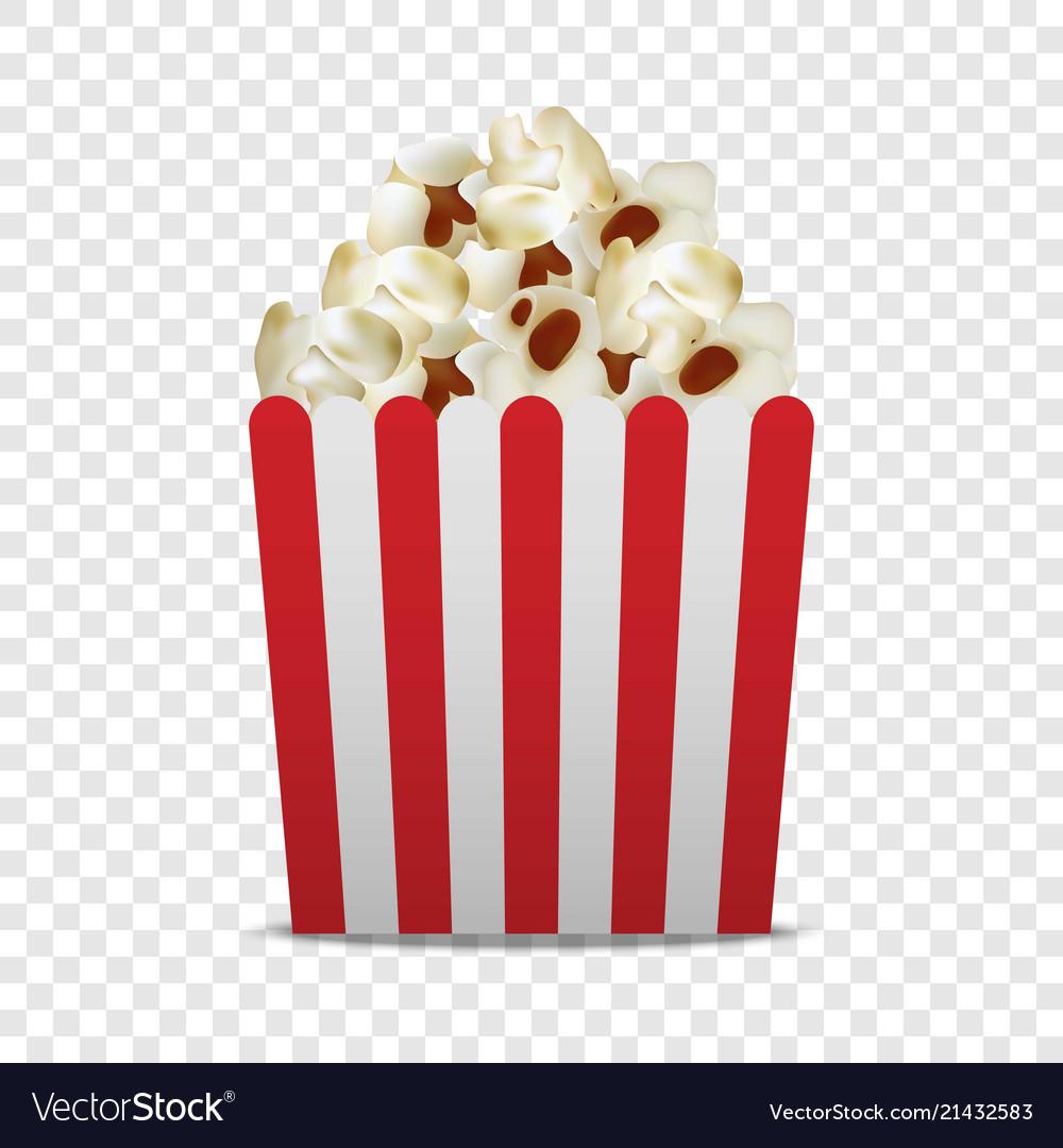 Paper popcorn box mockup realistic style