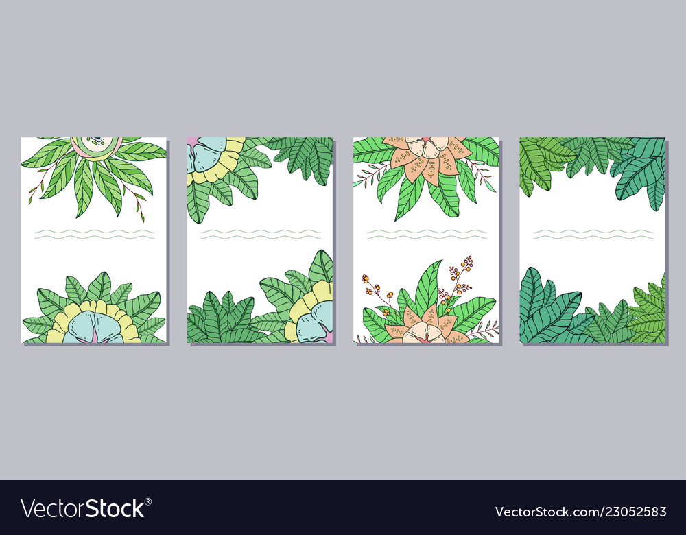 Set of isolated creative template cards flyers