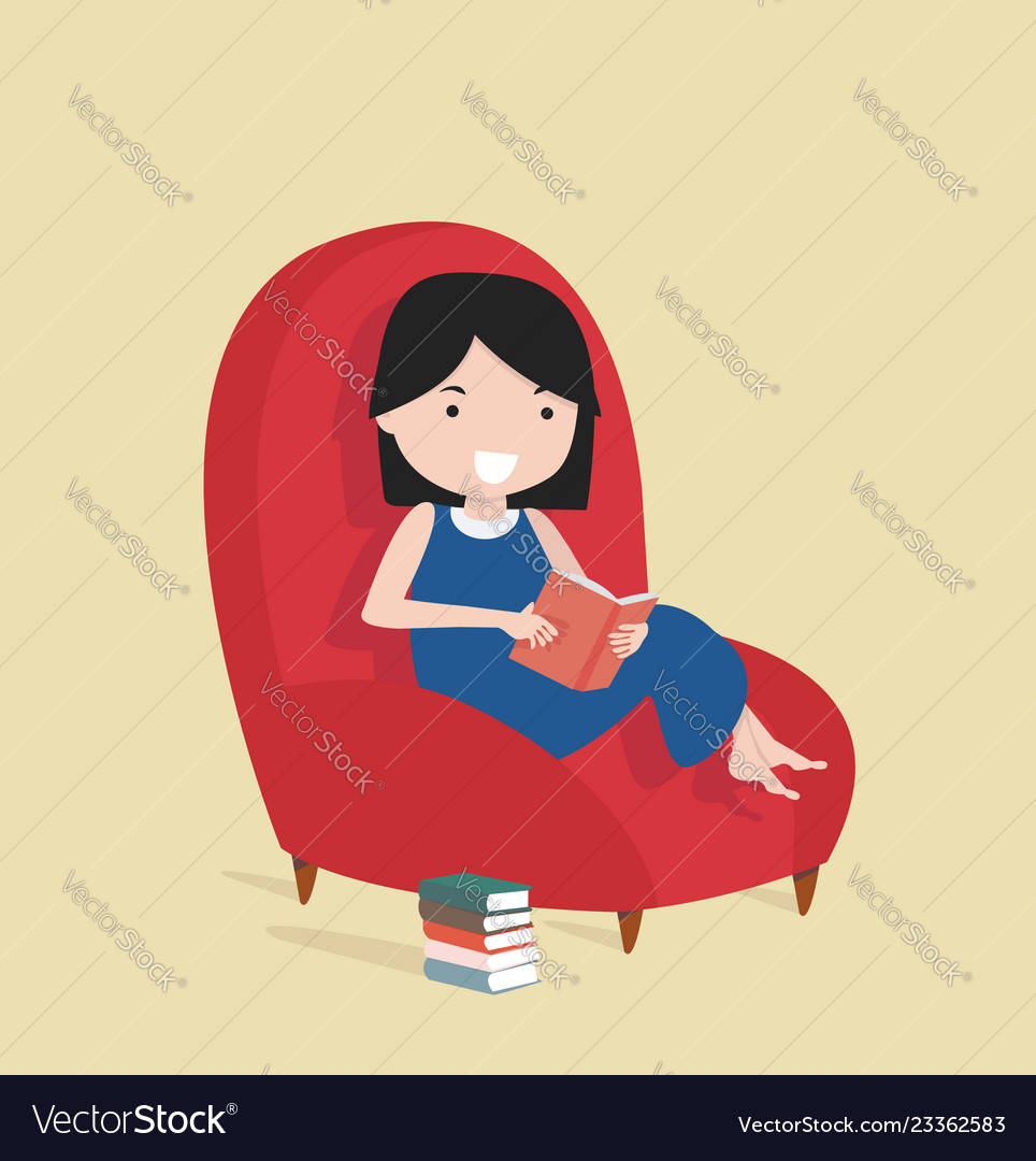 Tremendous Small Girl Reading The Book Sitting On A Sofa Alphanode Cool Chair Designs And Ideas Alphanodeonline