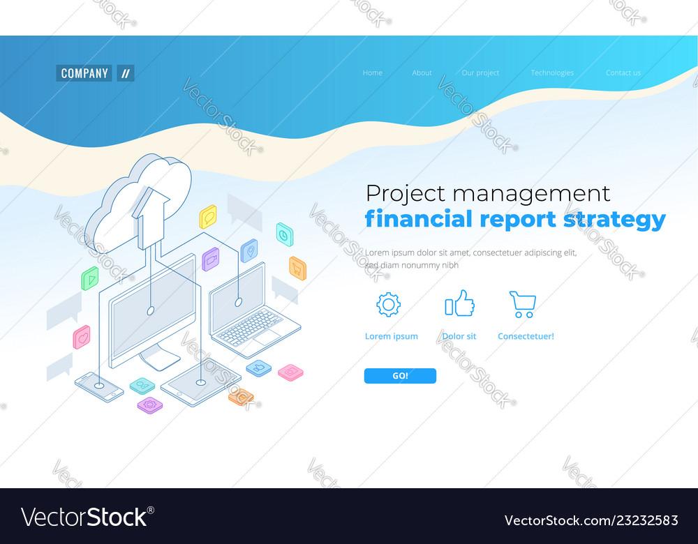 Web page design templates cloud computing concept