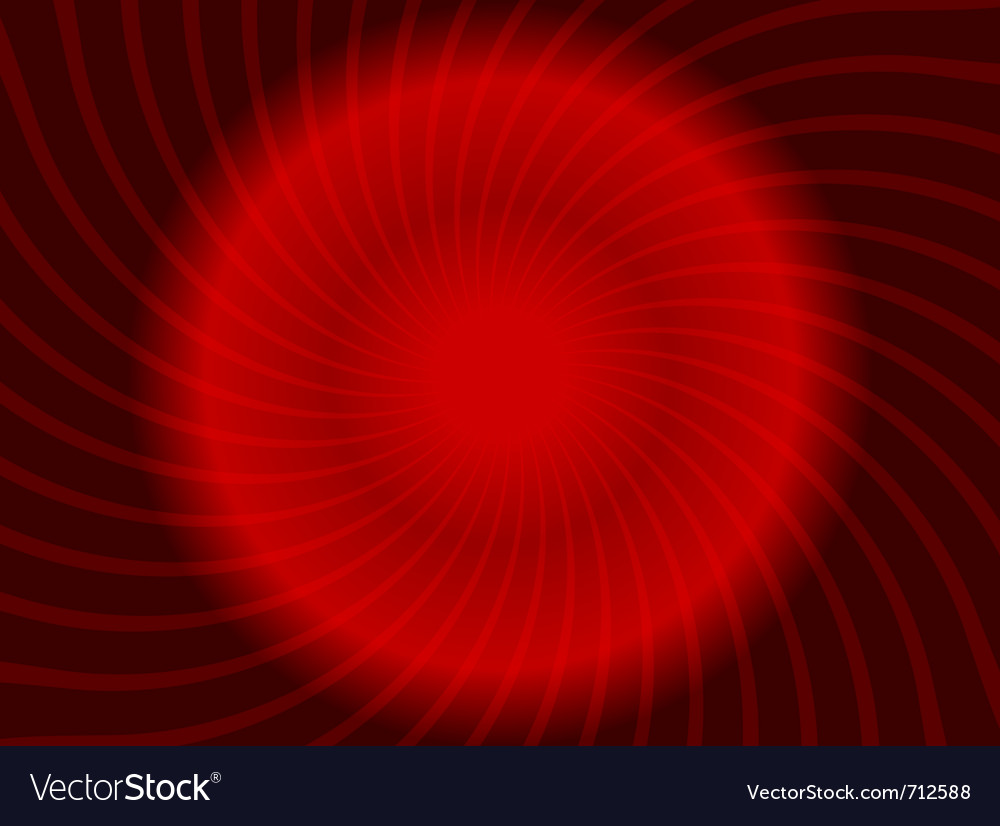 Abstract swirl red design