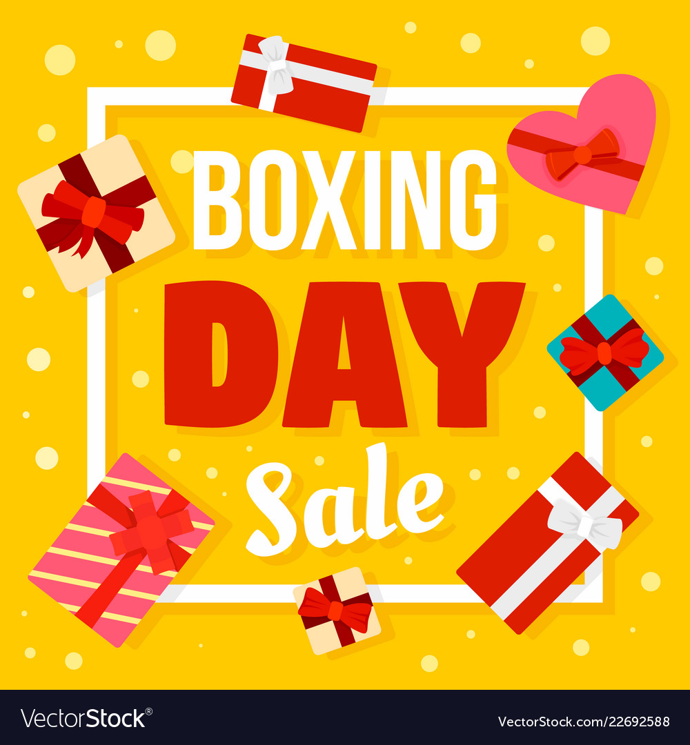 Boxing day sale concept background flat style
