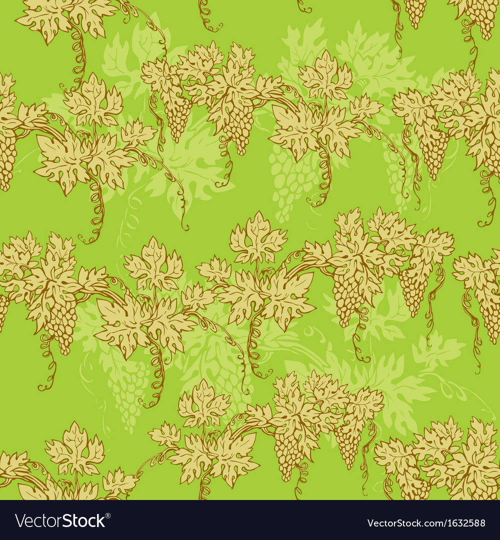 Seamless pattern - hand drawn wine grapes backgrou