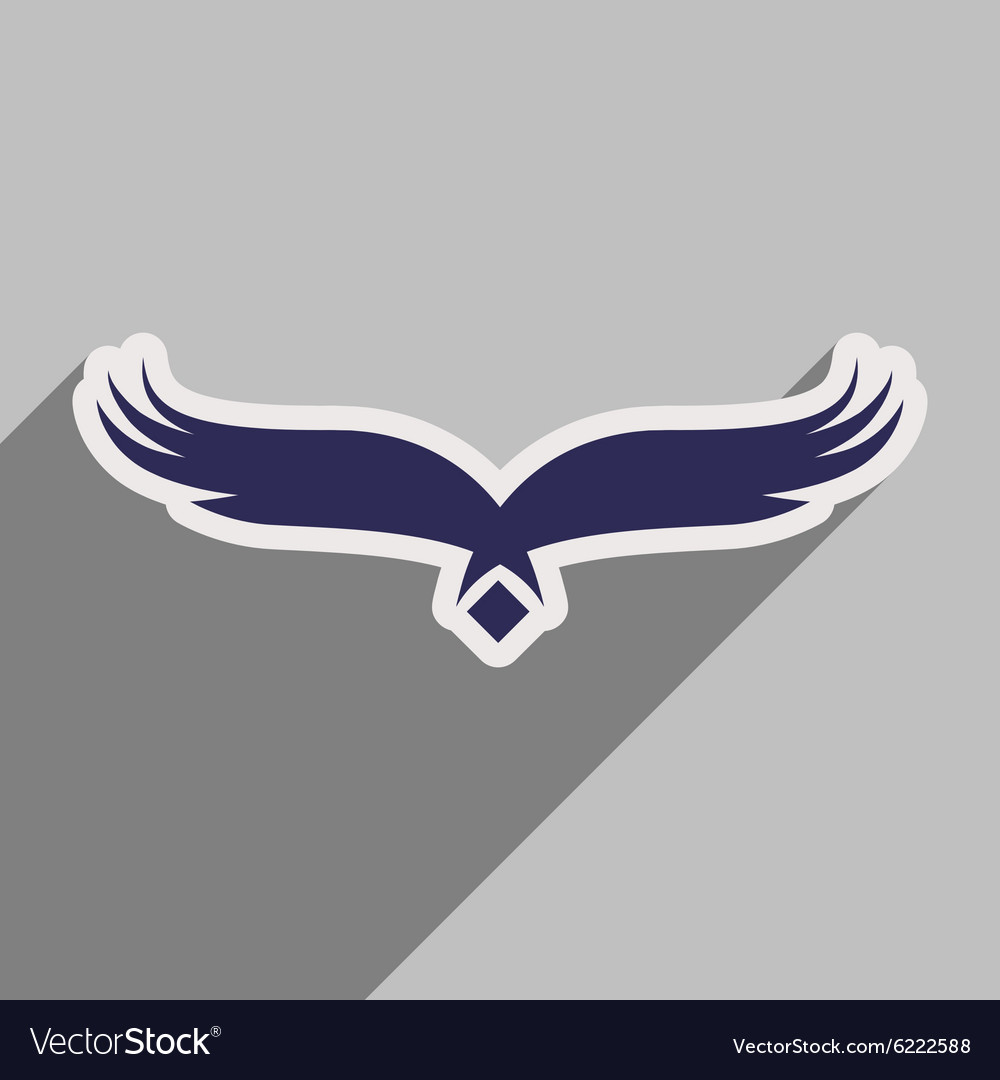 Stylish silhouette eagle logo vector image