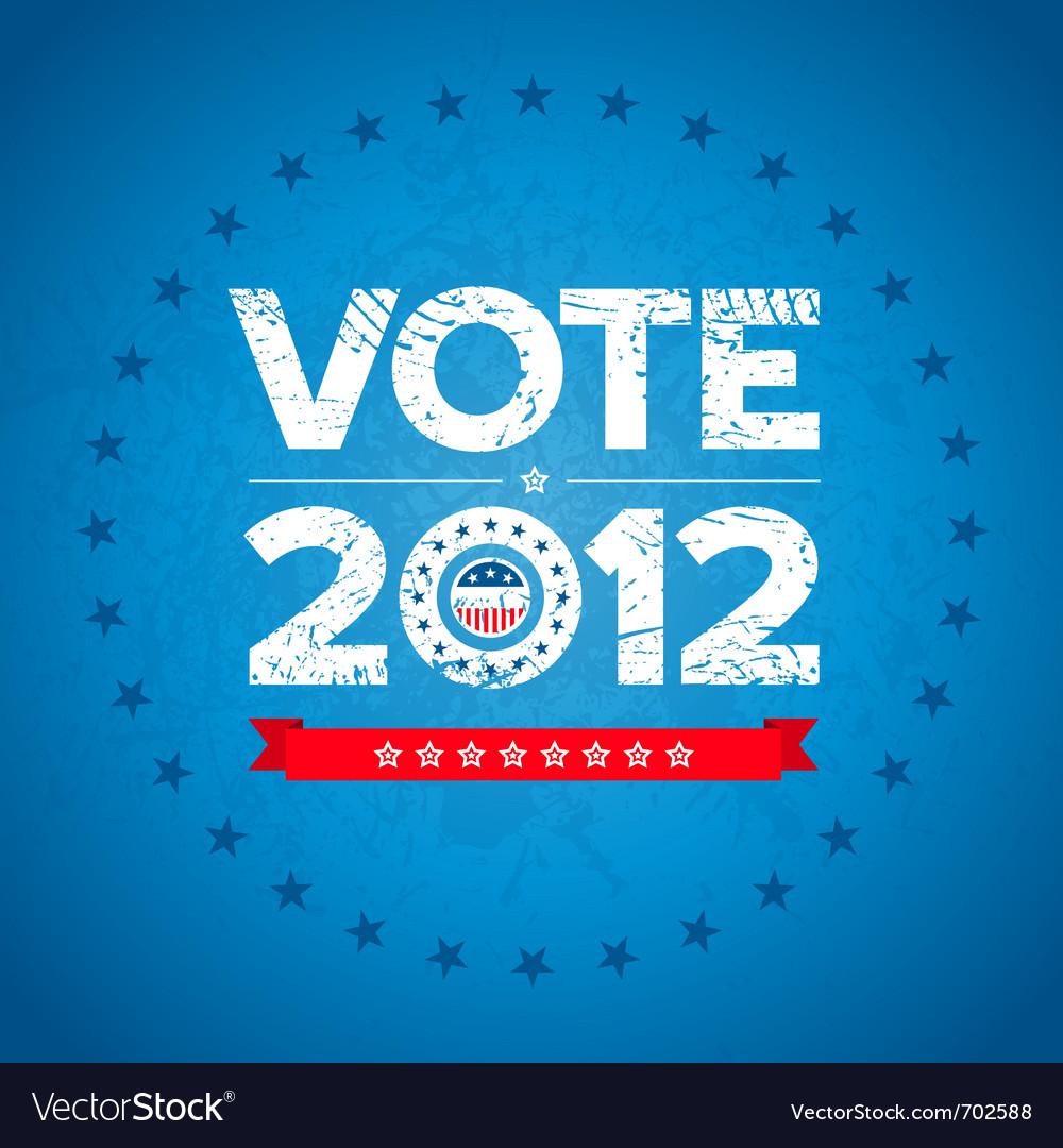 Vote 2012 background vector image