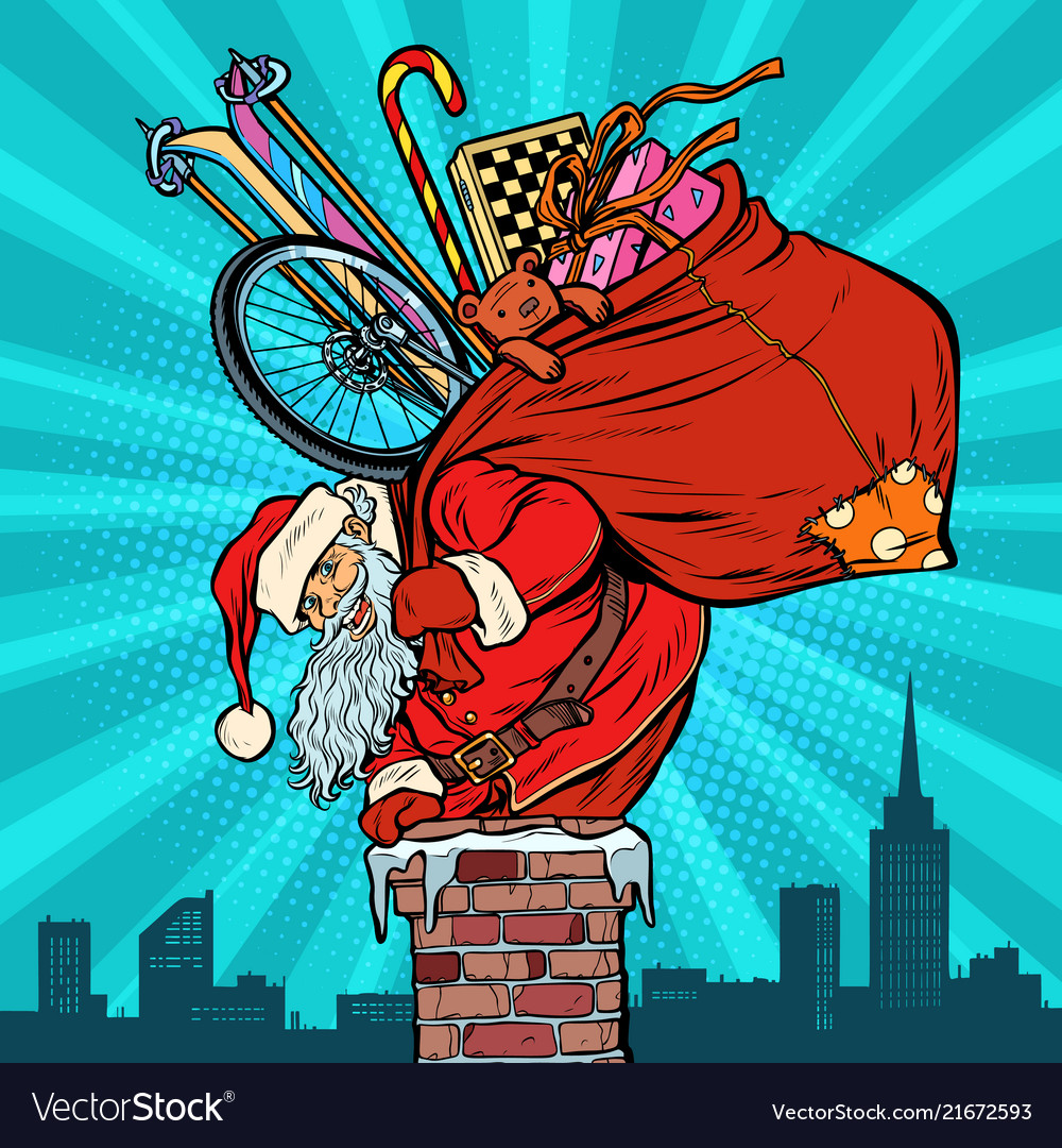 Activities and games santa claus with gifts