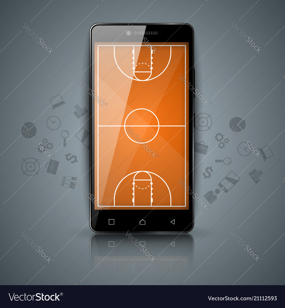 Basketball court sport smartphone icon