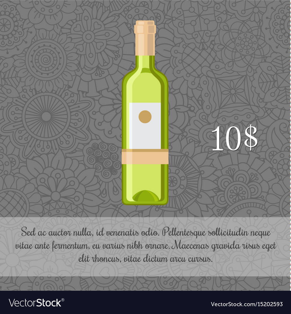 Lemon liquor beverage card template vector image