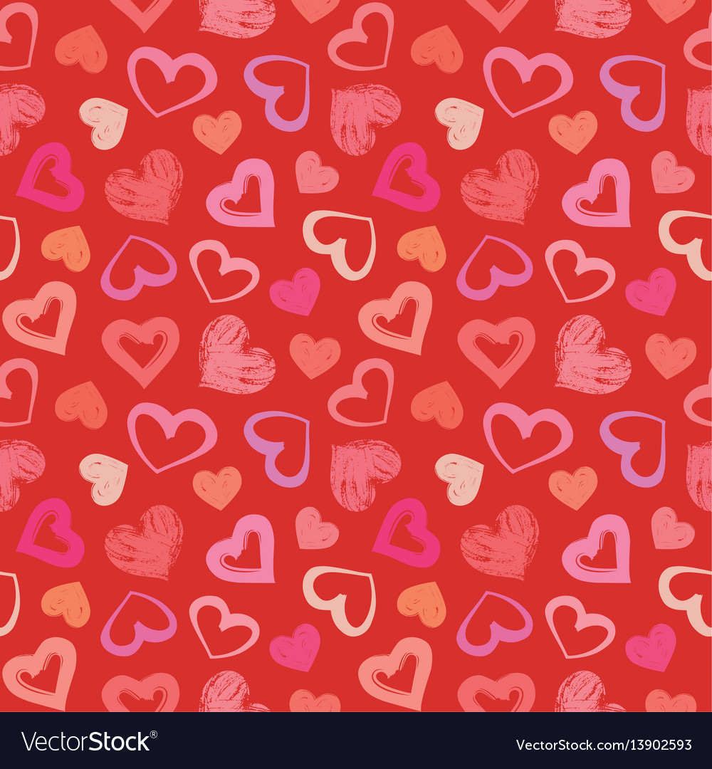 Love theme hearts valentines day seamless pattern