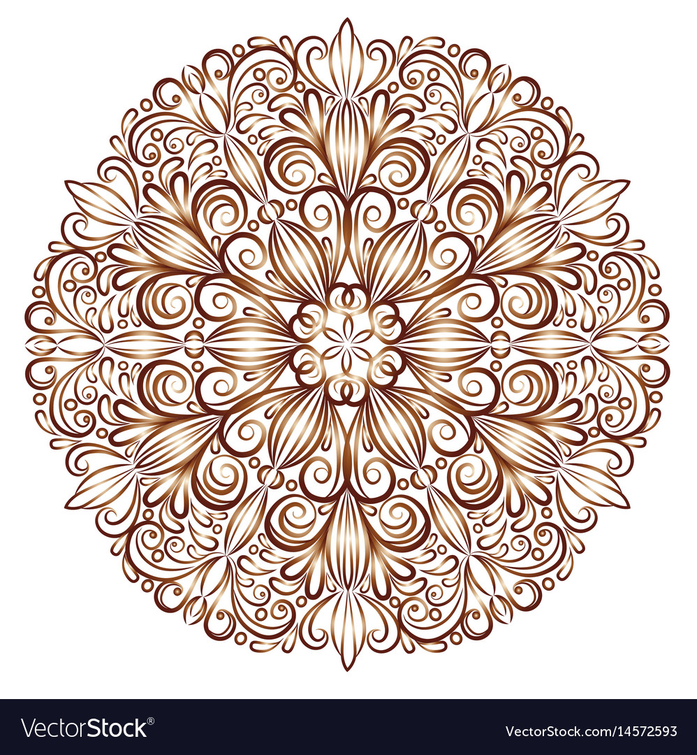 Mandala pattern in the stained glass style