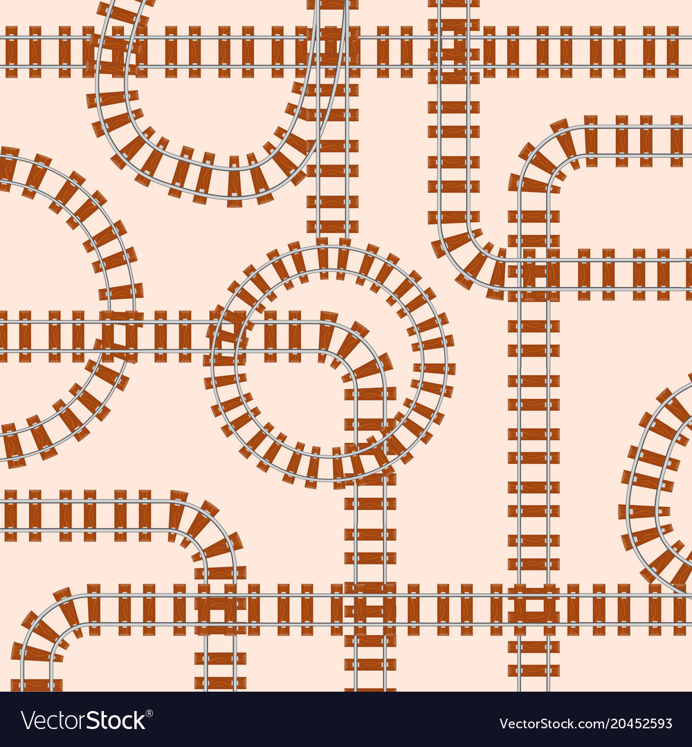 Seamless pattern with rails