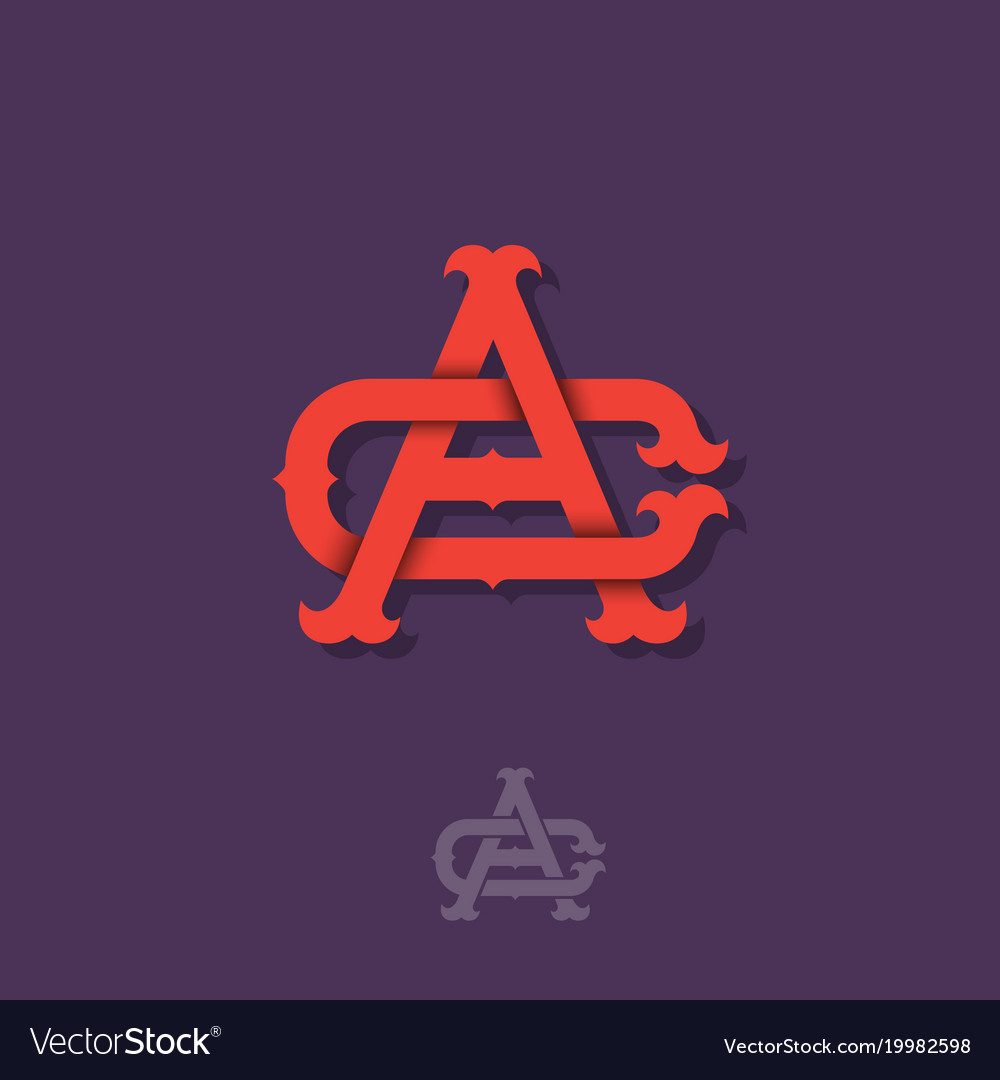 A c monogram red