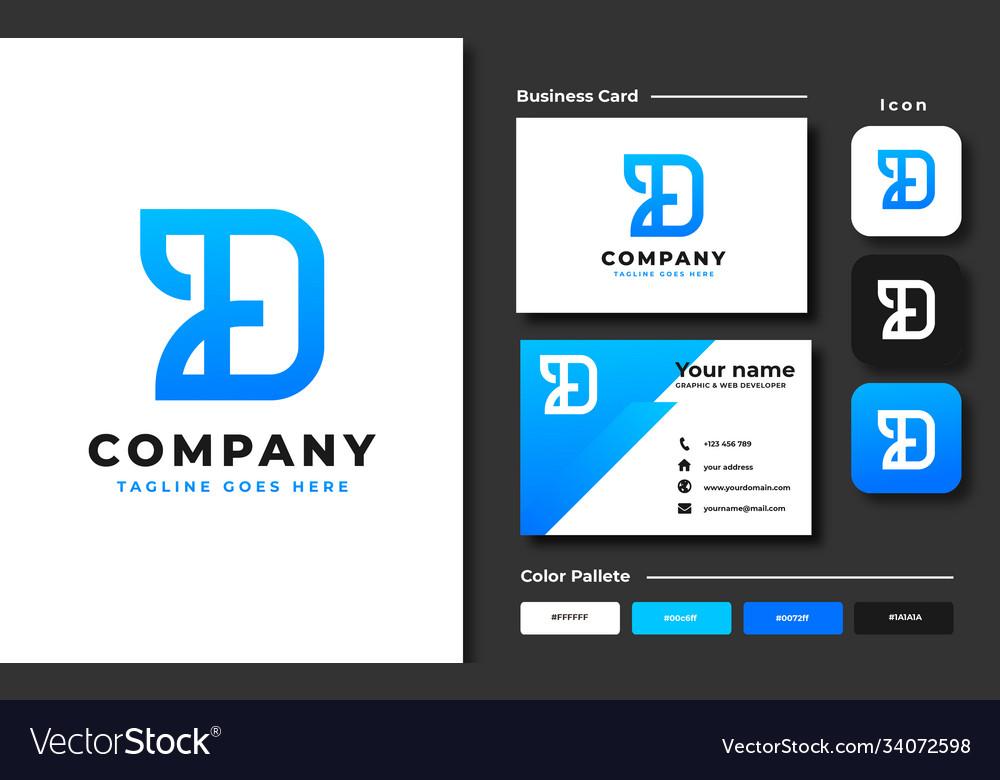 Creative professional trendy letter d logo