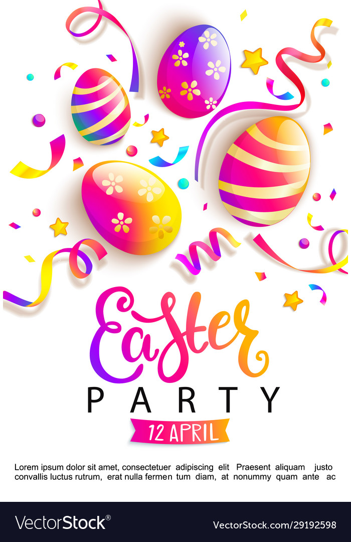 Easter party invitation card
